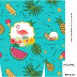 Sacolinha Surpresa 2 2 Flamingo Tropical Kit Festa