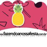 Saias Wrappers para Cupcakes 2 Flamingo Tropical Kit Festa
