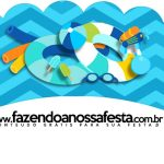 Saias Wrappers para Cupcakes 2 Pool Party Menino Kit Festa
