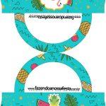 Saquinho de balas Bolsinha Flamingo Tropical Kit Festa