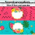 Saquinho de balas Flamingo Tropical Kit Festa
