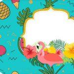 Tag Agradecimento Etiqueta Flamingo Tropical Kit Festa