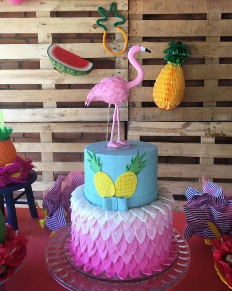 Créditos: @artminhabolos Ideias Criativas para Festa Flamingo