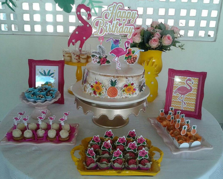 Créditos: @chaefestas Ideias Criativas para Festa Flamingo