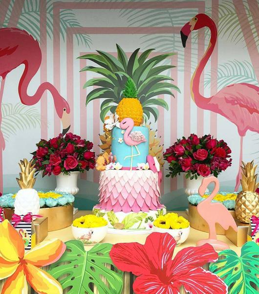 Créditos: @crissreis Ideias Criativas para Festa Flamingo