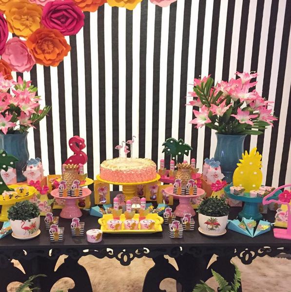 Créditos: @decorcriativefestas 2 Ideias Criativas para Festa Flamingo