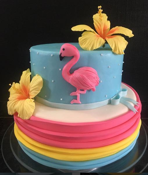 Créditos: @erineidetoscanobolos Ideias Criativas para Festa Flamingo