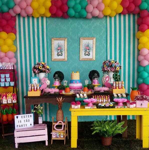 Créditos: @festivacampos Ideias Criativas para Festa Flamingo