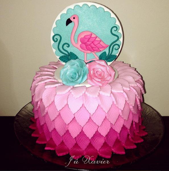 Créditos: @juxaviercakedesigner Ideias Criativas para Festa Flamingo