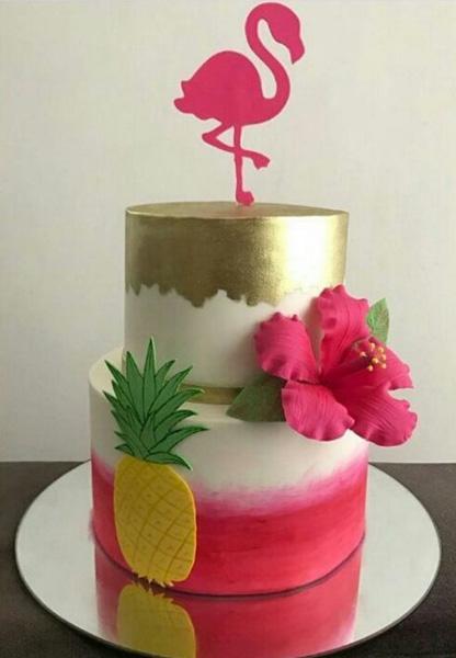 Créditos: @richeli.cakes Ideias para Festa Flamingo