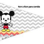 Bandeirinha Sanduiche 1 Mickey Baby Vintage