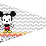 Bandeirinha Sanduiche 2 Mickey Baby Vintage