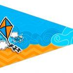 Bandeirinha Sanduiche 2 Pipa Laranja e Azul