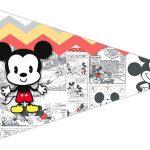 Bandeirinha Sanduiche 3 Mickey Baby Vintage
