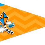 Bandeirinha Sanduiche 3 Pipa Laranja e Azul