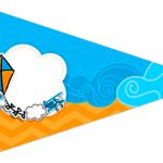 Bandeirinha Sanduiche 5 Pipa Laranja e Azul