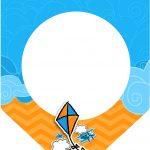 Bandeirinha Varalzinho 3 Pipa Laranja e Azul