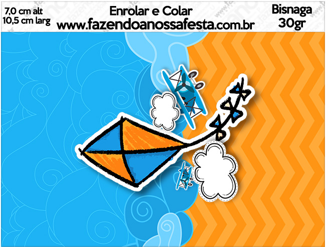 Bisnaga Brigadeiro 30gr Pipa Laranja e Azul