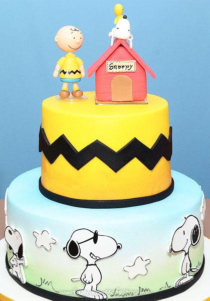 Bolo Festa Snoopy do Vini