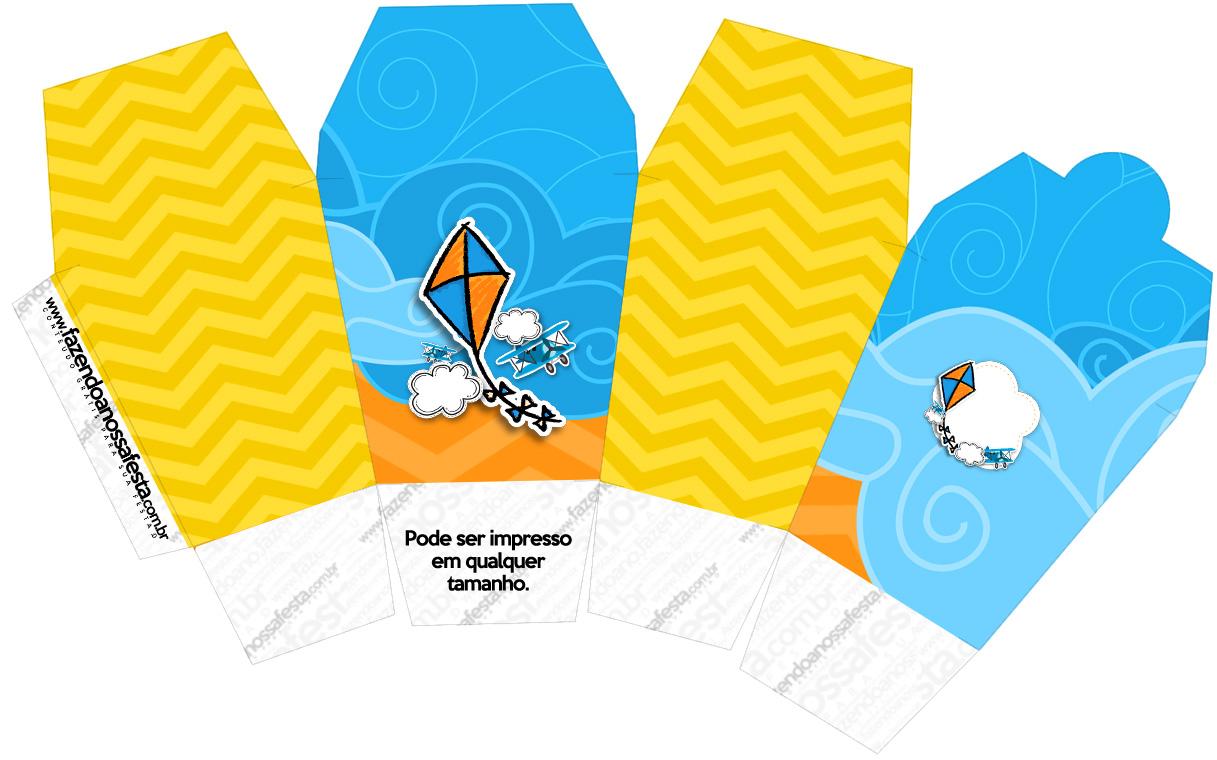 Caixa China in Box Pipa Laranja e Azul