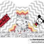 Caixa Coracao Mickey Baby Vintage