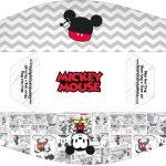 Caixa Mini Cachorro quente Mickey Baby Vintage kit festa