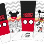 Caixa Pipoca Mickey Baby Vintage kit festa