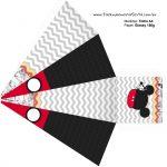 Caixa Piramide 2 Mickey Baby Vintage Kit Festa