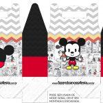 Caixa bombom Mickey Baby Vintage kit festa