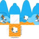 Caixa com Foto Pipa Laranja e Azul