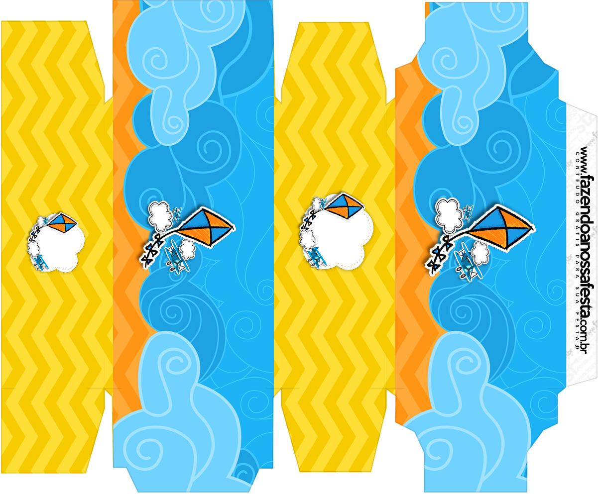 Caixa sabonete Pipa Laranja e Azul