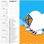 Calendario 2017 2 Pipa Laranja e Azul