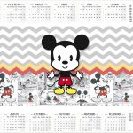 Calendario 2017 Mickey Baby Vintage Kit Festa