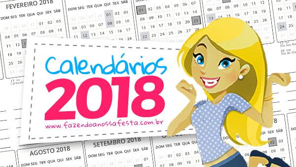 CALENDÁRIO 2018 EM LIBRAS