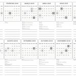 Calendário 2018 para imprimir