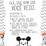 Cartao Agradecimento Quadro Mickey Baby Vintage