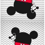 Cartao Agradecimento de mesa Mickey Baby Vintage