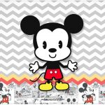 Cartao Mickey Baby Vintage