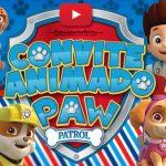 Convite Animado Virtual Patrulha Canina Grátis para Baixar