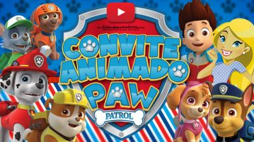 Convite Animado Virtual Patrulha Canina
