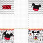 Convite Caixa Fundo Mickey Baby Vintage