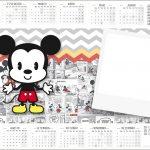 Convite Calendario 2017 Mickey Baby Vintage