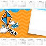 Convite Calendario 2017 Pipa Laranja e Azul