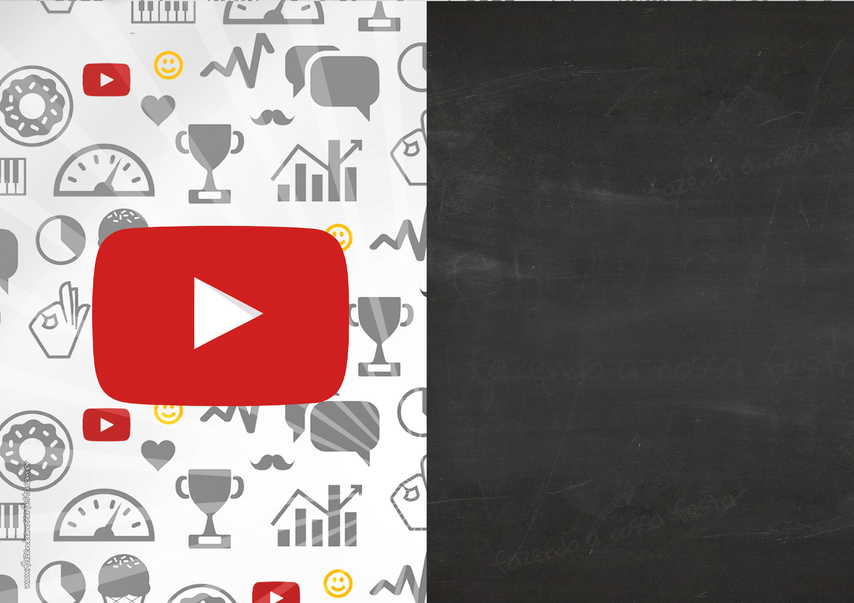 Convite Chalkboard Festa Youtube 6