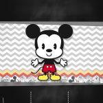 Convite Chalkboard Mickey Baby Vintage