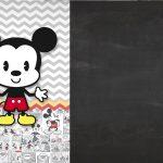 Convite Chalkboard Mickey Baby Vintage 2