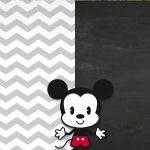 Convite Chalkboard Mickey Baby Vintage 4