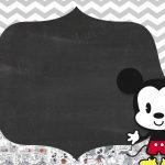 Convite Chalkboard Mickey Baby Vintage 6
