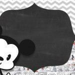 Convite Chalkboard Mickey Baby Vintage 7