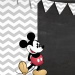 Convite Chalkboard Mickey Mouse Vintage 2